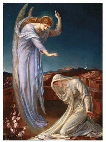 san gabriel arcangel y la virgen maria
