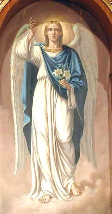 san gabriel arcangel saludando