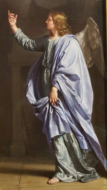 Arcángel Gabriel en vestimenta azul