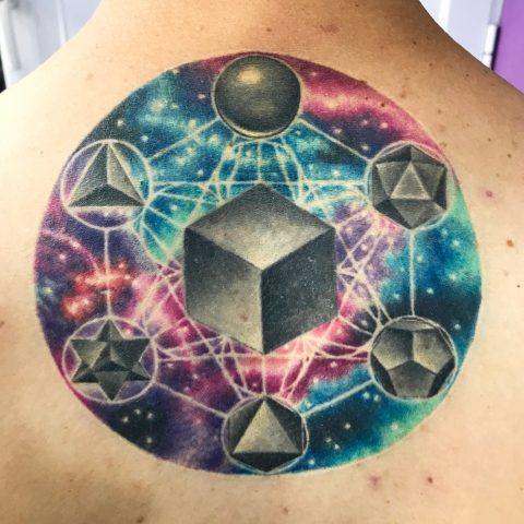 tatuaje cubo de metatron