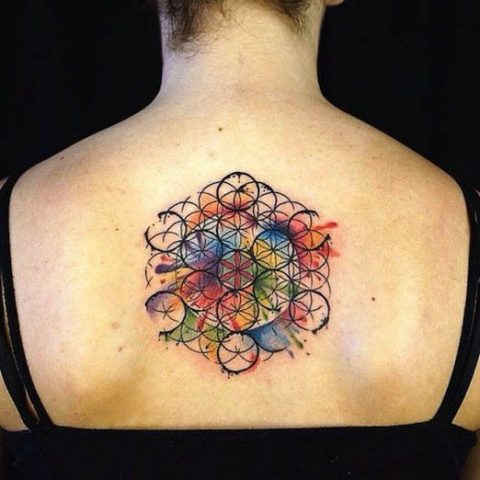 tatuaje flor de la vida metatron tatoo