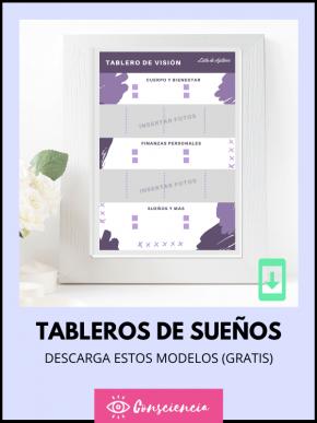 Descargar modelos de tablero de la visión (Plantillas en PDF y Word)