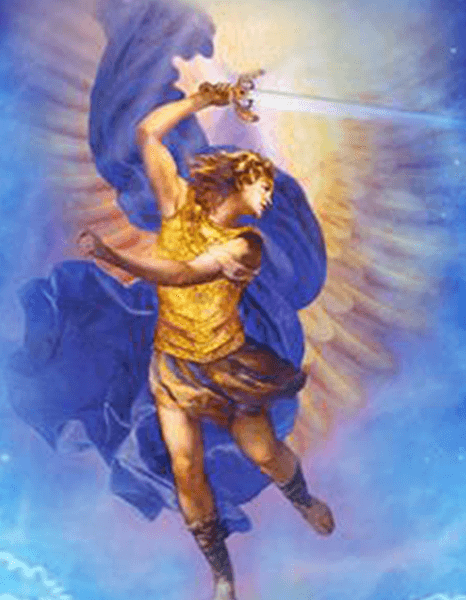 arcangel san miguel rayo azul