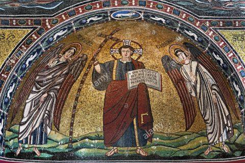 arcangel mcguel y gabriel en la iglesia de san michele ravenna