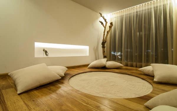 como decorar un espacio de meditacion
