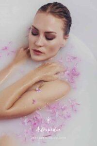 baño de año nuevo con leche magnesia