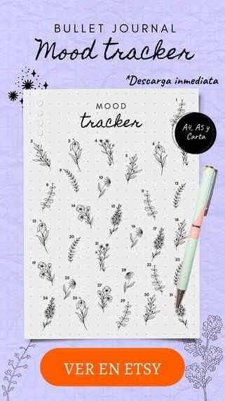diario de emociones bullet journal template