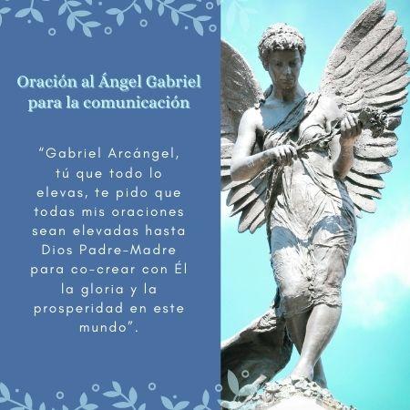 Oración al arcángel gabriel e imagen