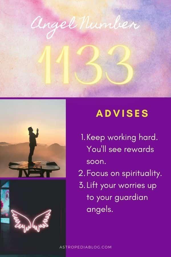 angel number 1133 advises