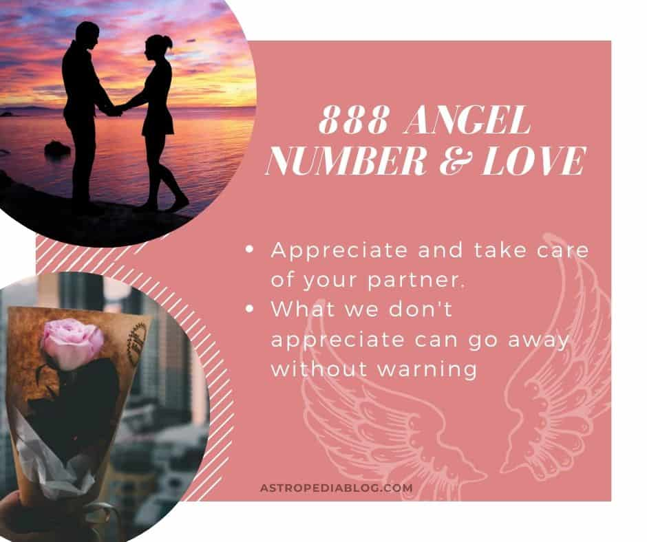 angel numbers 888 and love