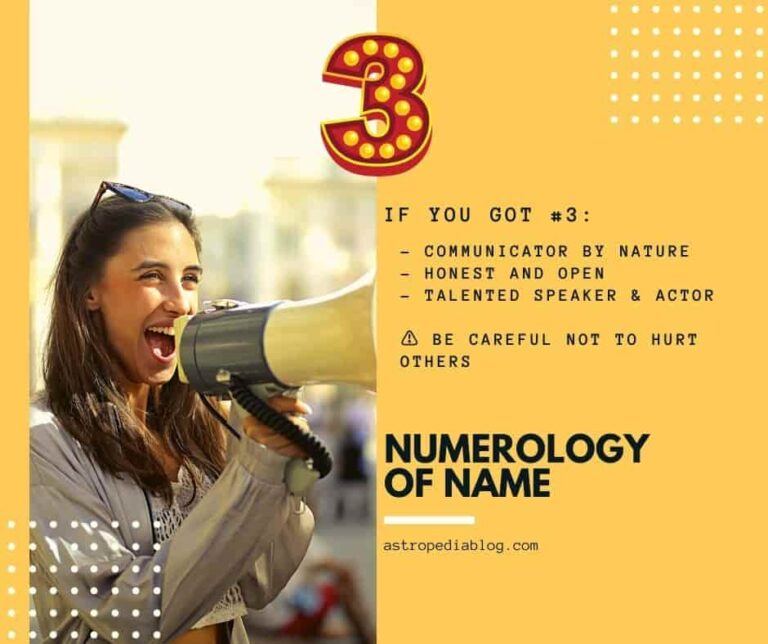 numerology of name number 3