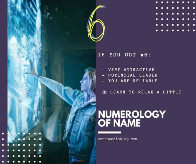 numerology of name number 6