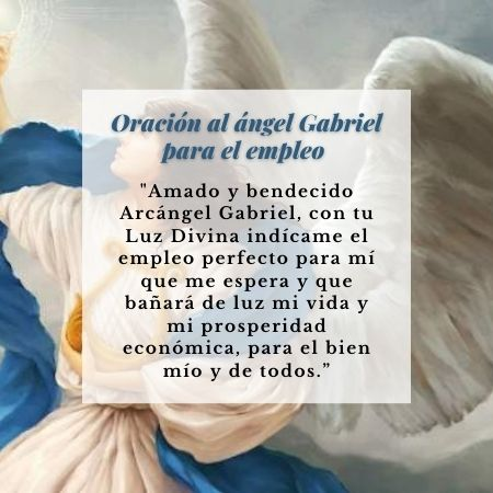 oración al ángel gabriel para empleo