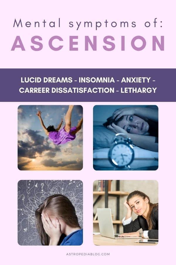 symptoms of ascension mental