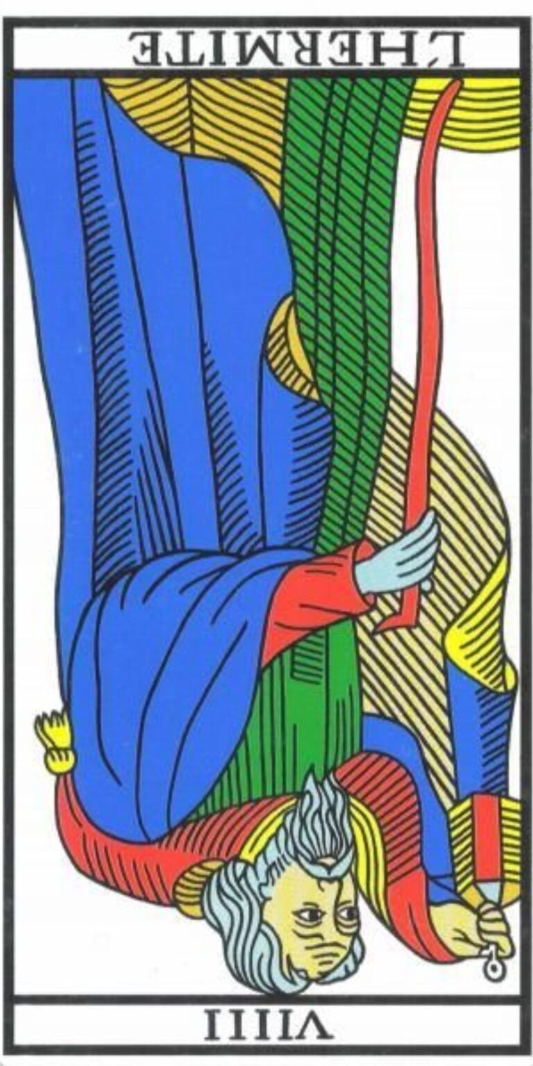 el ermitaño tarot al revés invertido