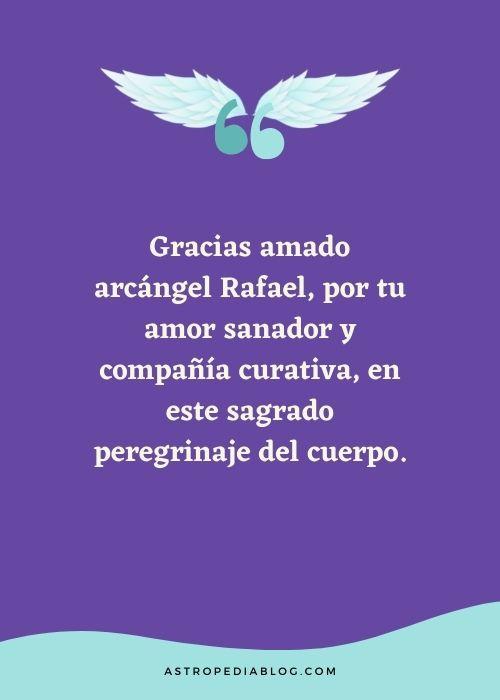 oración de agradecimiento al angel rafael