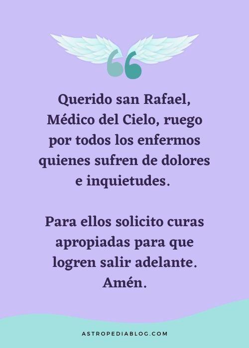 oraciones al arcangel rafael pedir por un enfermo