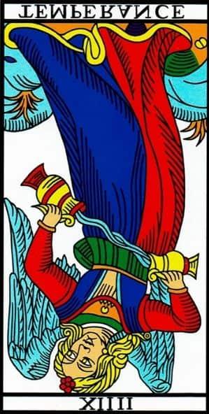 la templanza tarot de marsella invertida